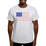 Snow Cross Snowmobile Flag of Sleds Light T-Shirt