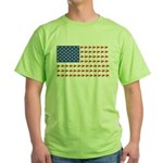 Snow Cross Snowmobile Flag of Sleds Green T-Shirt
