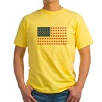 Snow Cross Snowmobile Flag of Sleds Yellow T-Shirt