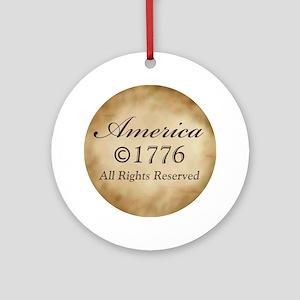 Copyright 1776 Ornament (Round)