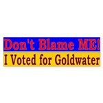 Don't Blame ME-BG Bumper Sticker