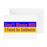 Don't Blame ME-BG Greeting Cards (Pk of 20)