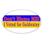 Don't Blame ME-BG Oval Sticker (50 pk)
