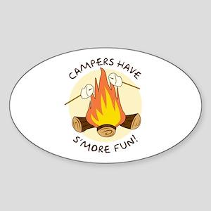 """""""S'more Fun"""" Oval Sticker"""