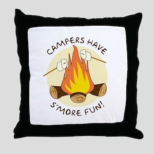"""""""S'more Fun"""" Throw Pillow"""