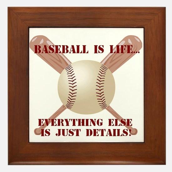 Baseball is Life Framed Tile