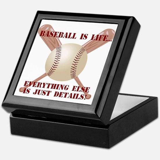 Baseball is Life Keepsake Box