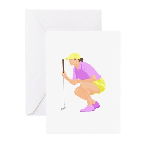 Woman Golfer Greeting Cards (Pk of 10)