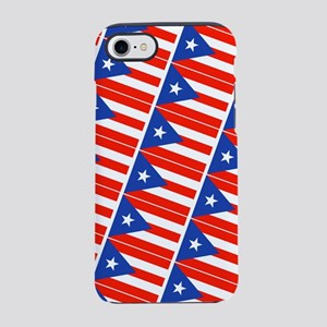 Puerto Rican Flags Banderas iPhone 8/7 Tough Case