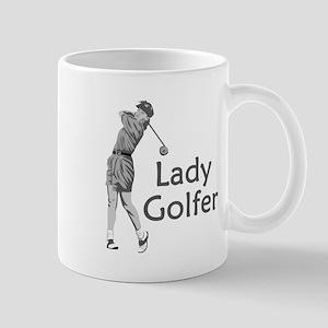 Lady Golfer Mug
