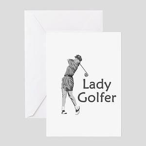 Lady Golfer Greeting Card