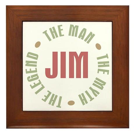 Jim Man Myth Legend Framed Tile