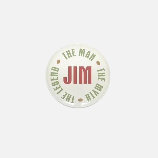 Jim Man Myth Legend Mini Button