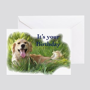 golden birthday Greeting Card