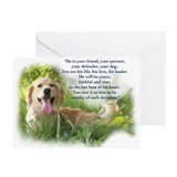 Golden retriever sympathy Greeting Cards