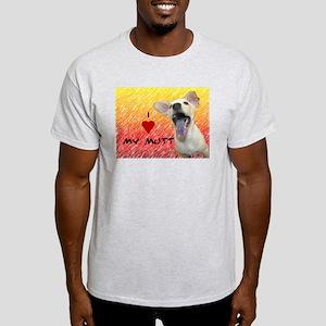I Love My mutt Ash Grey T-Shirt