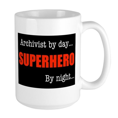 Superhero Archivist Large Mug