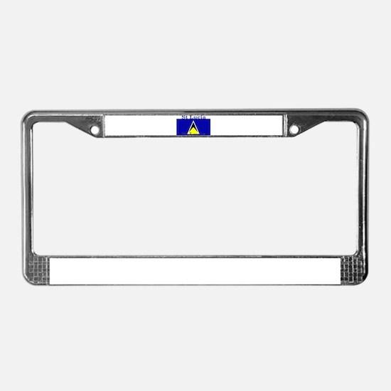 St Lucia License Plate Frame