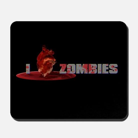 I Heart Zombies Mousepad