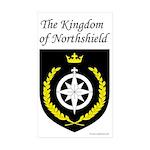 Kingdom of Northshield Rectangle Sticker 50 pk)