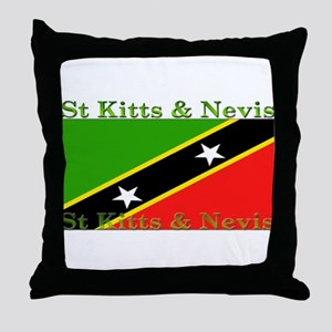 St Kitts & Nevis Throw Pillow