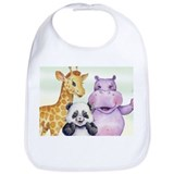 Hippopotamus Cotton Bibs