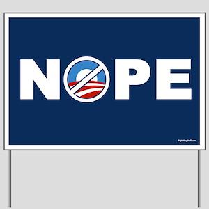 Nope 2 Anti-Obama Yard Sign