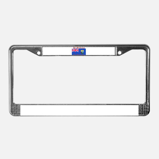 St Helena License Plate Frame