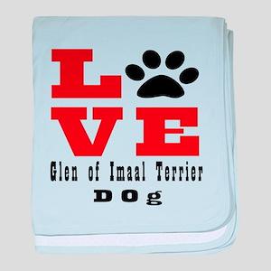 Love Glen of Imaal Terrier Dog Design baby blanket