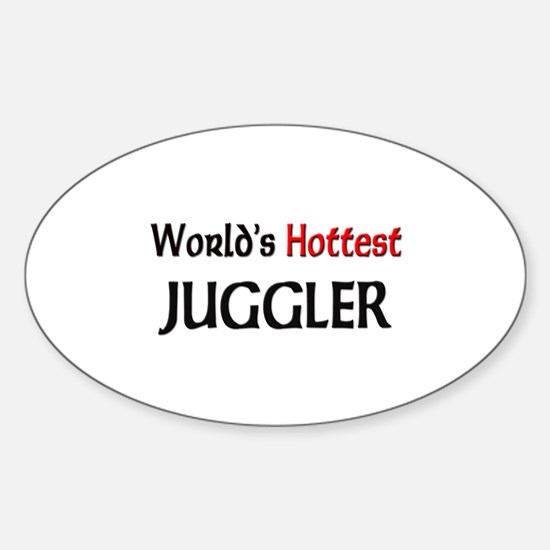 World's Hottest Juggler Oval Decal