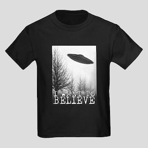 I Want To Believe Kids Dark T-Shirt