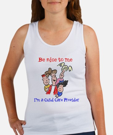 Be Nice to Me Child Care Women's Tank Top