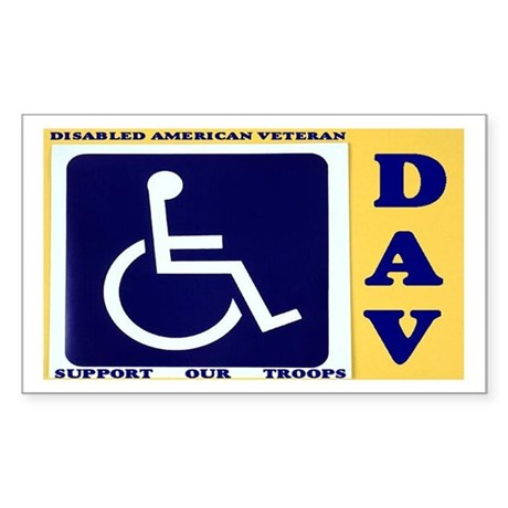 Disabled Vets Sticker (Rectangle)