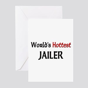 World's Hottest Jailer Greeting Cards (Pk of 10)