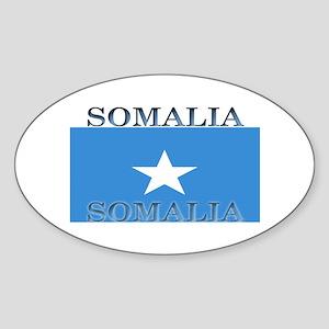 Somalia Somali Flag Oval Sticker