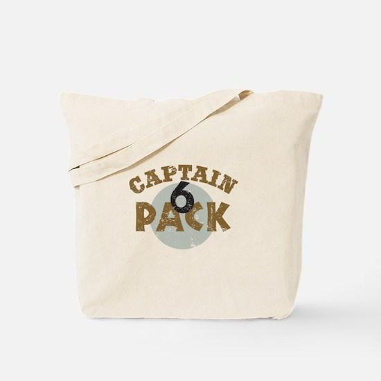 Captain 6 Pack Military Humor Tote Bag