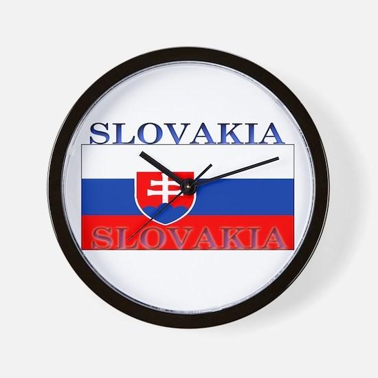 Slovakia Slovak Flag Wall Clock