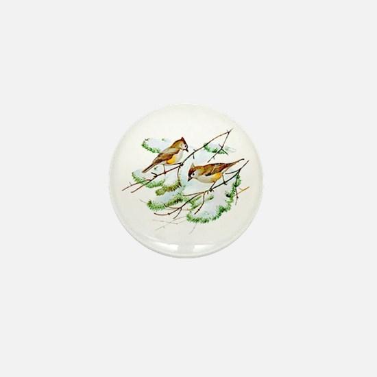 Tufted Titmouse Mini Button