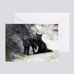 Cross Fox Kit Greeting Card