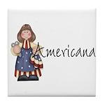 Americana Girl Tile Coaster