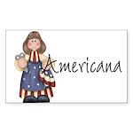 Americana Girl Rectangle Sticker