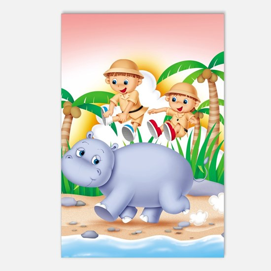 Safari Hippo Postcards (Package of 8)