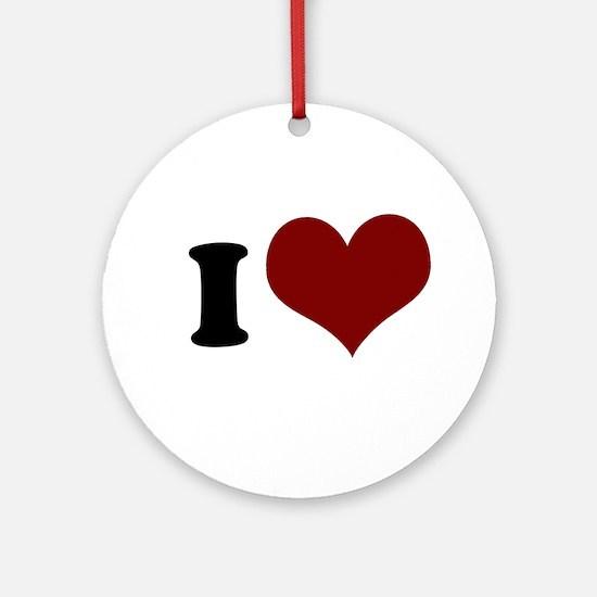 i heart Ornament (Round)