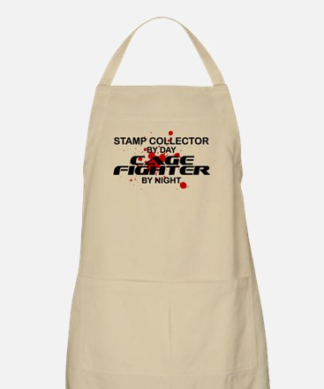 Stamp Collector Cage Fighter by Night BBQ Apron