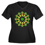 Sparkhenge Women's Plus Size V-Neck Dark T-Shirt