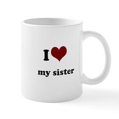 i heart my sister Mug