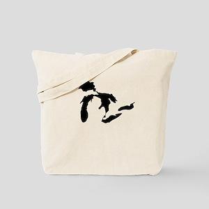 Great Lakes Black Tote Bag