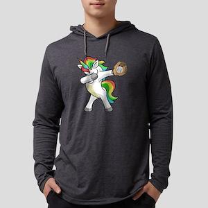 Dabbing Unicorn Baseball Funny Long Sleeve T-Shirt