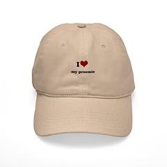 i heart my preemie Baseball Cap