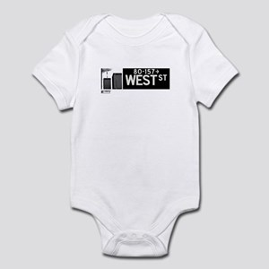 West Street in NY Infant Bodysuit